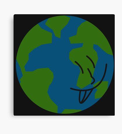Silly Earth Canvas Print