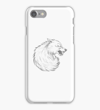 House Stark Wolf Graphic Drawing (Game of Thrones) iPhone Case/Skin
