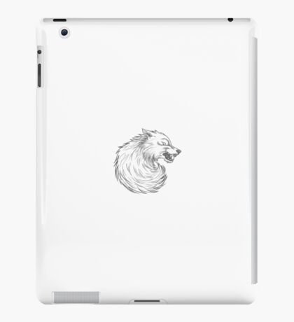 House Stark Wolf Graphic Drawing (Game of Thrones) iPad Case/Skin