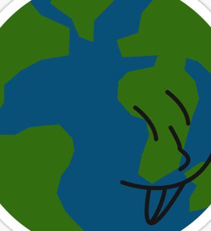 Silly Earth Sticker
