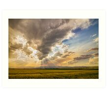 Colorado Big Sky Beams of Sunshine Art Print