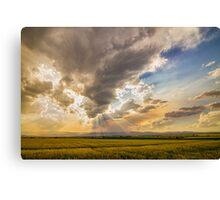 Colorado Big Sky Beams of Sunshine Canvas Print