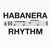 Habanera rhythm black Kids Tee
