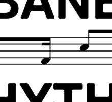 Habanera rhythm black Sticker