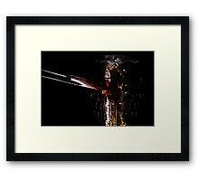 Chink in one's armour Framed Print