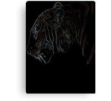 tiger, colored tiger shirt Canvas Print