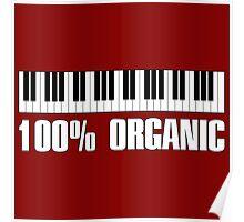 100 organic white Poster
