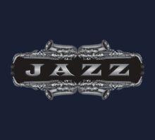 Jazz sax gray Kids Tee