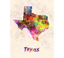 Texas US state in watercolor Photographic Print