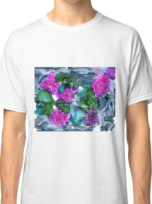 Abstract Water Lilies Classic T-Shirt