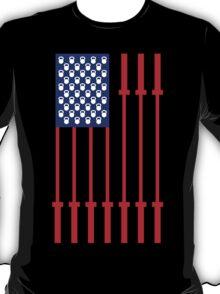 Barbell USA Flag Workout Shirt Merica T-Shirt