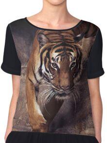 tiger, graphic shirt Chiffon Top