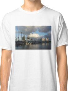 Dramatic Tropical Storm Light Over Ala Wai Harbor, Honolulu, Hawaii  Classic T-Shirt