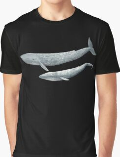 Blue whale with baby Graphic T-Shirt