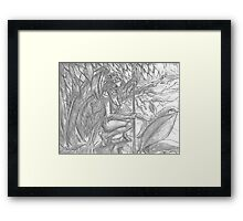 Song Elf in tree Framed Print
