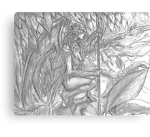 Song Elf in tree Canvas Print