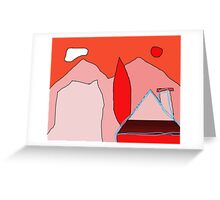 Abstract lendscape by Moma Greeting Card