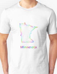 Rainbow Minnesota map Unisex T-Shirt