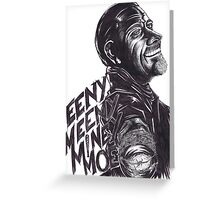 "Negan : ""EenyMeenyMineyMoe"" Greeting Card"