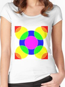 Rainbow Bubbles Women's Fitted Scoop T-Shirt