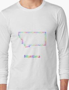 Rainbow Montana map Long Sleeve T-Shirt