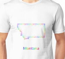 Rainbow Montana map Unisex T-Shirt
