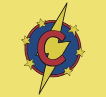 My Cute Little Super Hero - Letter C Kids Tee