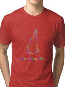 Rainbow New Hampshire map Tri-blend T-Shirt