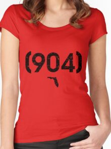 Area Code 904 Florida Women's Fitted Scoop T-Shirt