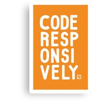 Code Responsively Canvas Print
