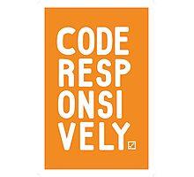 Code Responsively Photographic Print