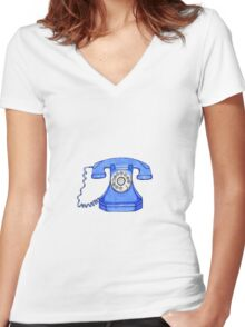 Hotline to heaven Women's Fitted V-Neck T-Shirt