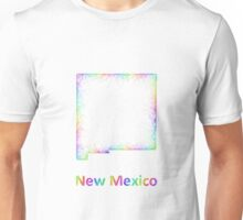Rainbow New Mexico map Unisex T-Shirt