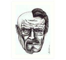 Heisenberg VS Walter White Art Print