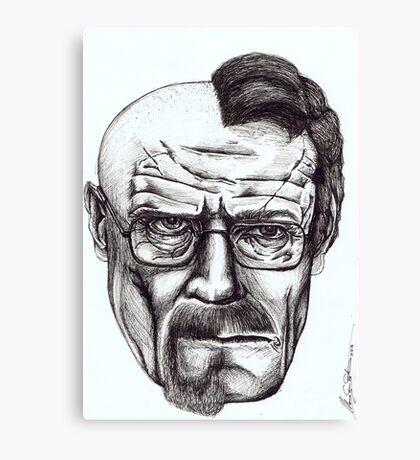 Heisenberg VS Walter White Canvas Print
