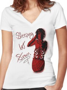 Sleeping with Sirens- Mer Kellin Women's Fitted V-Neck T-Shirt