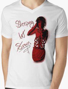 Sleeping with Sirens- Mer Kellin Mens V-Neck T-Shirt