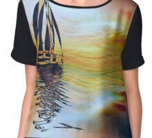SAILING ON A SUMMER AFTERNOON, by E. Giupponi Chiffon Top