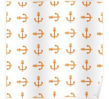 Cute seamless pattern anchor Poster