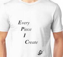 Epic Flow - Creating, Designing - Black Lettering Unisex T-Shirt