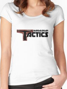 Mandalorian Tactics Podcast Gear Women's Fitted Scoop T-Shirt