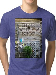Blue Willow Shop, Door County Wisconsin Tri-blend T-Shirt