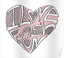 Cute hearts in words.I Love fashion Poster