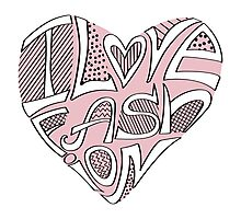 Cute hearts in words.I Love fashion Photographic Print