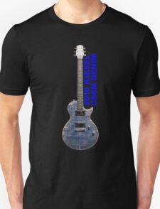 Kiesel Carvin CS6M denim finish guitar labled Unisex T-Shirt
