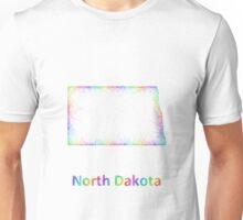 Rainbow North Dakota map Unisex T-Shirt