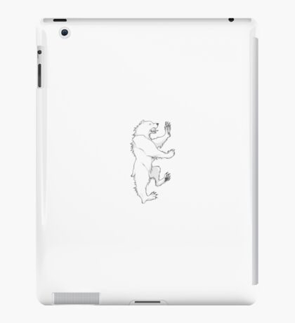 House Mormont Bear Graphic Drawing (Game of Thrones) iPad Case/Skin