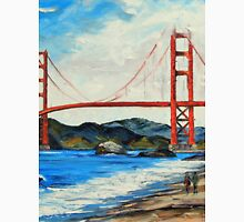 Golden Gate ll by Lisa Elley. Palette knife painting in oil Unisex T-Shirt