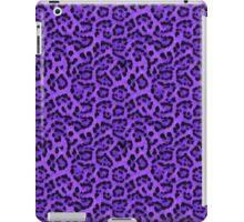 Faux Fur Fabric Purple Black iPad Case/Skin