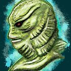 Creature from the black lagoon splatter by VixPeculiar